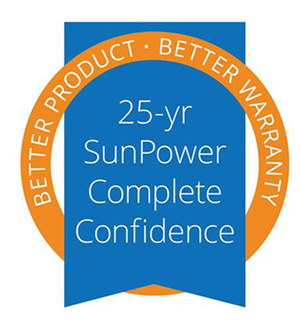25 years SunPower warranty